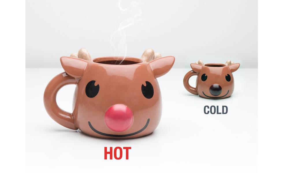 Rudolf fargeskiftende nese kopp