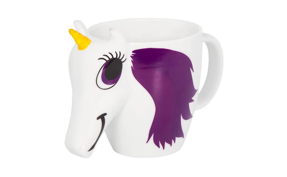 Fargeskiftende kopp uten innhold