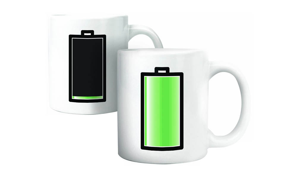 varmefolsomt krus med batteriindikator