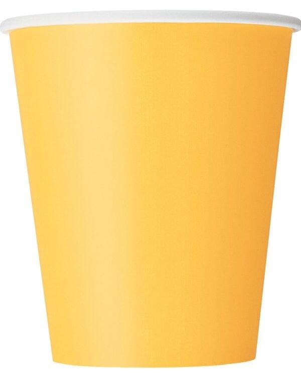 14 stk Gule Pappkrus 270 ml