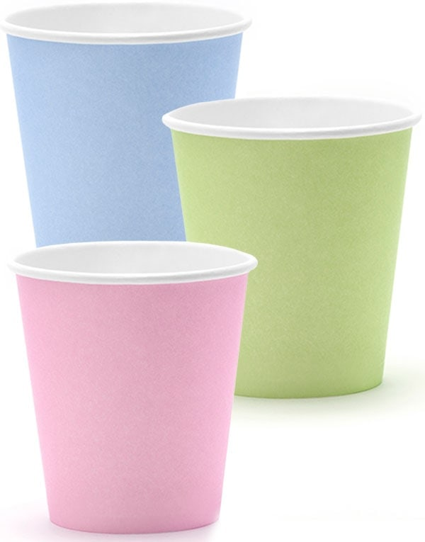6 stk Pappkrus 200 ml - Sweet Pastel