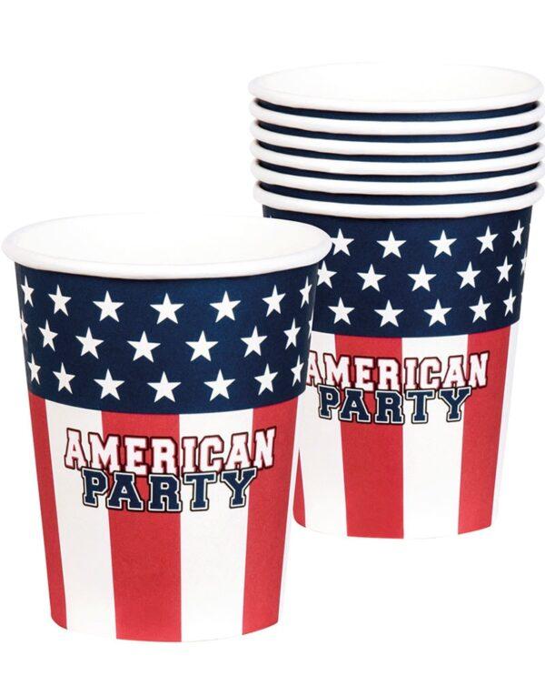 6 stk Pappkrus 250 ml - American Party