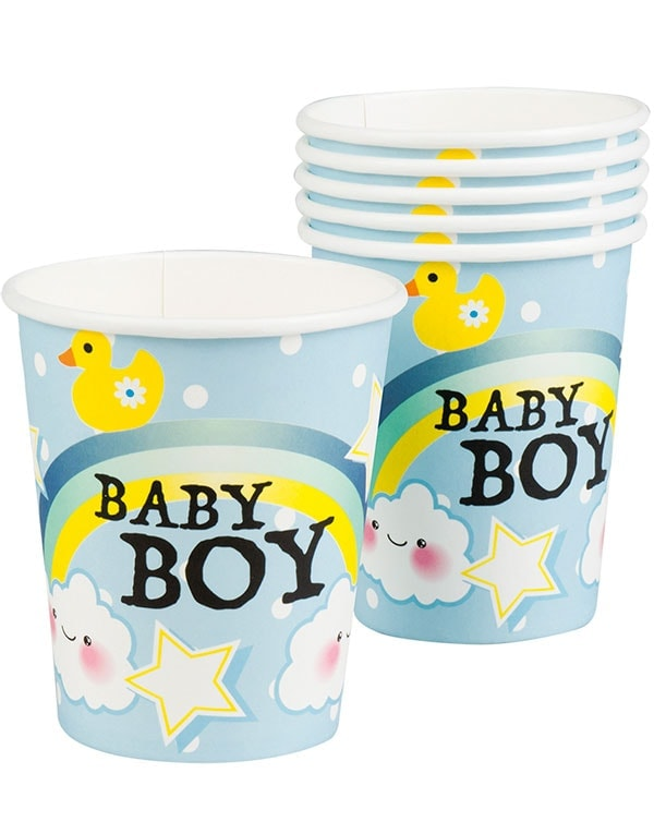 6 stk Pappkrus 250 ml - Baby Boy