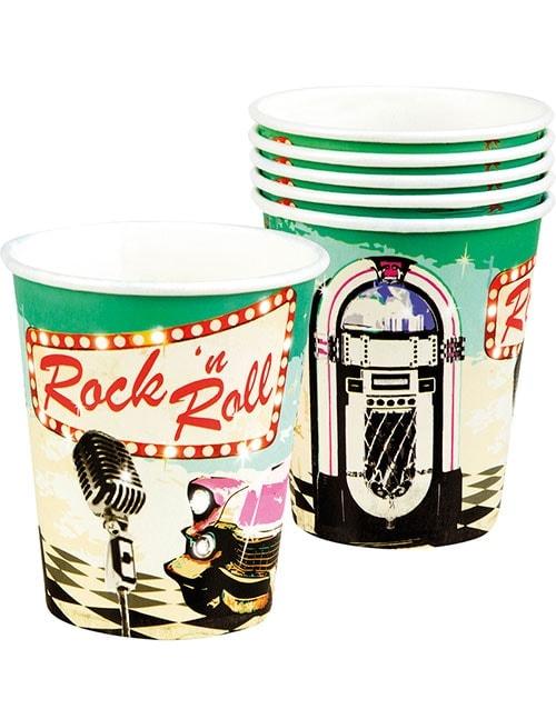 6 stk Pappkrus 250 ml - Rock 'n Roll
