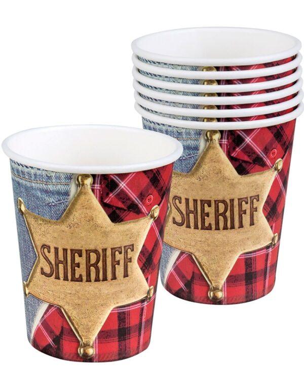 6 stk Pappkrus 250 ml - Sheriff