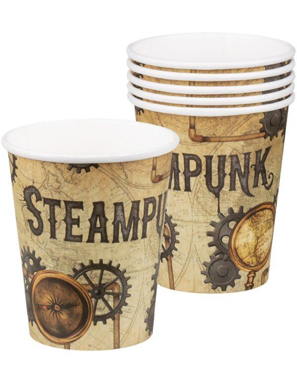 6 stk Pappkrus 250 ml - Steampunk