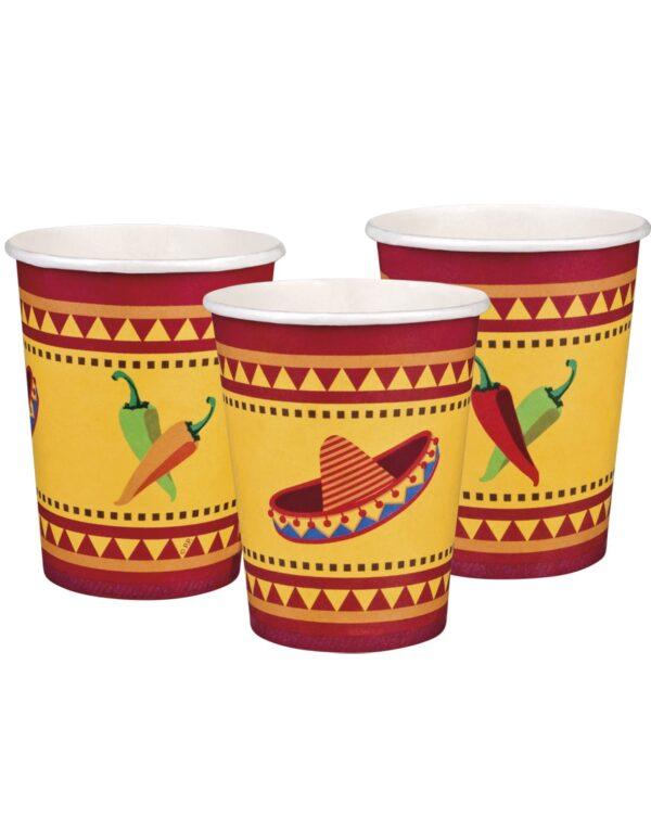 6 stk Pappkrus 255 ml - Taco Fiesta