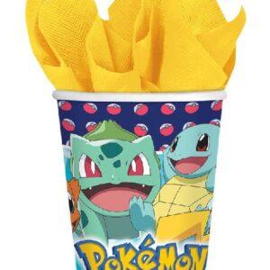 8 stk Pappkrus 250 ml - Pokémon Fest