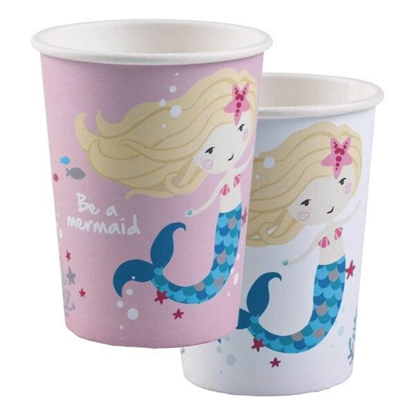 Pappkrus Be a Mermaid - 8-pakning