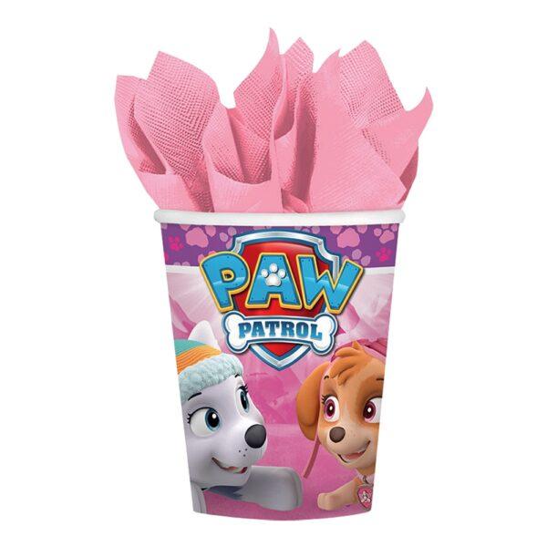 Pappkrus Paw Patrol Rosa - 8-pakning