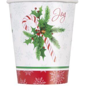 Sett med 8 kopper med polkagris - Polkagris Jul